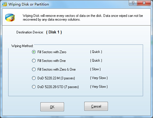 Wiping Disk/Partition